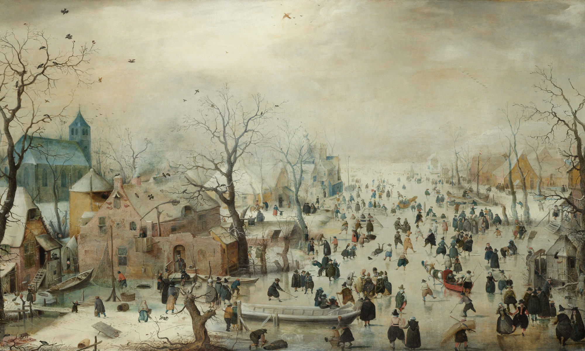 Winter Landscape with Ice Skaters (Hendrick Avercamp)