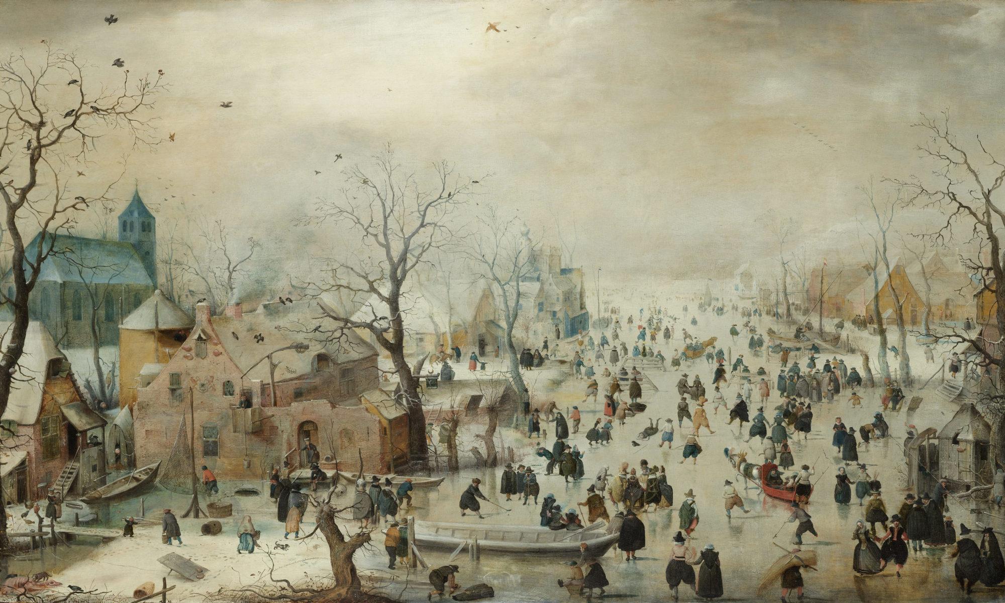 Winter Landscape with Ice Skaters (Hendrick Avercamp)